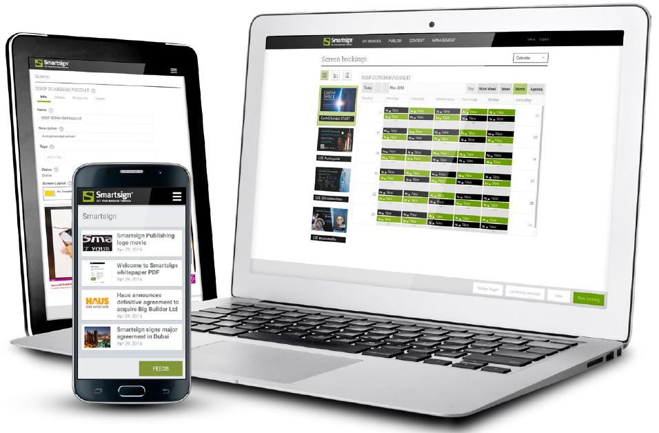 Dator, tablet och telefon med smartsign