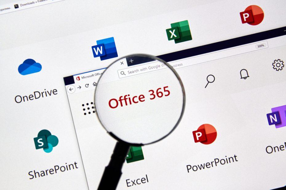 Förstoringsglas över texten Office 365